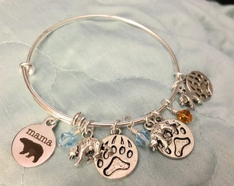 Mama Bear adjustable bangle