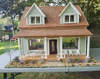 hand crafted one of a kind  dollhouse
