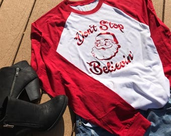 Don't Stop Believin' Christmas Shirt