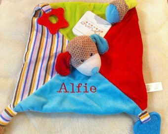Personalised Baby Blankie Comforter. New Baby Gift. Baby Boys Plush Toy From Birth