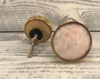 Round Metal Knob, Furniture Pull, Simulated Mother Of Pearl, Hardware  Kitchen Knobs,