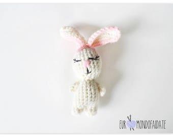 Bunny Easter Amigurumi Bunny Hook keychain Girl