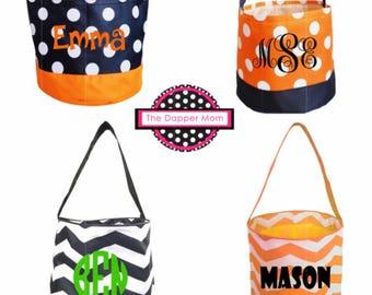 Personalized Halloween Buckets/Treat Bags/Cloth Halloween Bags/Halloween Bucket/Personalized Halloween Bucket