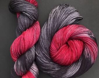 """DK weight, """"Hattak"""", Superwash Merino, 250 yards, Hand dyed Yarn, Indie dyed yarn"""
