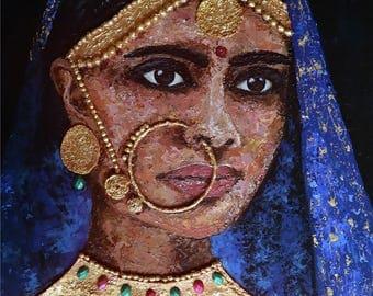 Indian Bride PRINT of Original Painting