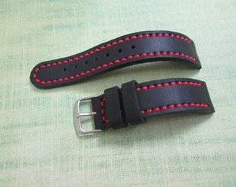 Watch strap, leather watch strap 20 mm handmade