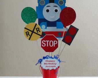 Thomas & Friends Customize Happy Birthday centerpiece, handmade