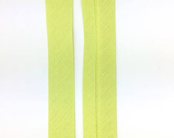5 m lined polycotton plain lime green 20mm