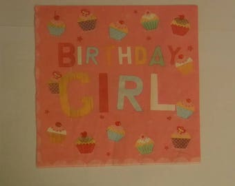 set of 2 napkins papierserviette birthday