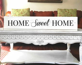 Home sweet home | Reclaimed Wood | Farmhouse | Long skinny sign | Large sign for kitchen | Big sign for home | Sign with saying | Home sign