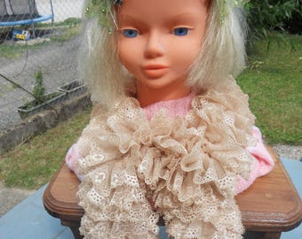Scarf or simple summer scarf light beige