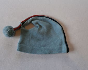 70's Blue  Red Winter Hat