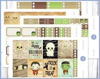 Happy Halloween Weekly Kit | Halloween Planner Sticker | October Weekly Kit - Erin Condren Planner Weekly Kit