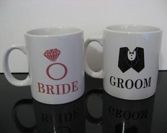 Large Bride & Groom Mugs