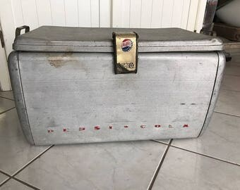 Pepsi Cola Vintage Cooler Ice Chest Metal  Collector's Item
