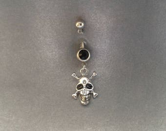 belly button ring Skull And Bones