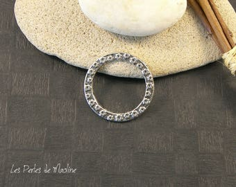 Silver ring with pattern - 1 - 31 mm - ref:r073