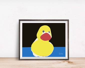 Rubber duck print | Etsy
