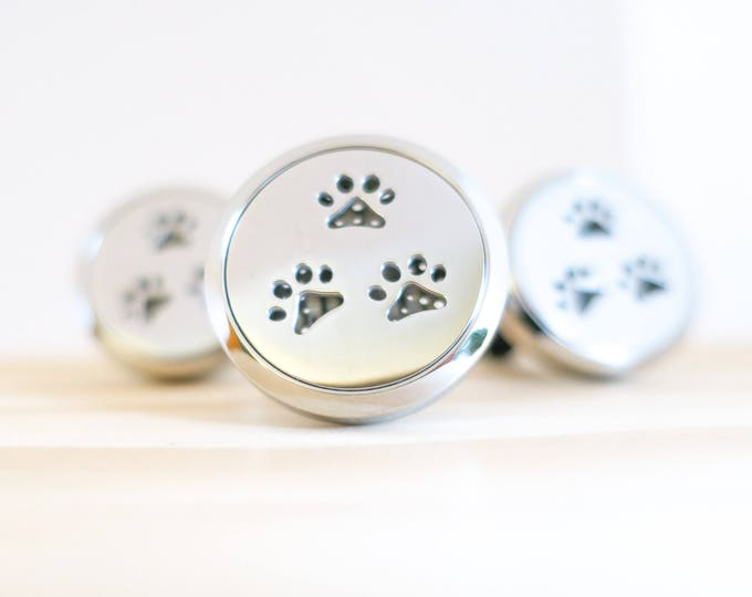 Featured listing image: Dog Paw Car Diffuser   Aromatherapy   Car Diffuser   Stainless Steel   Essential Oil   Diffuser Felt Pads   Car Therapy   Clip On Diffuser