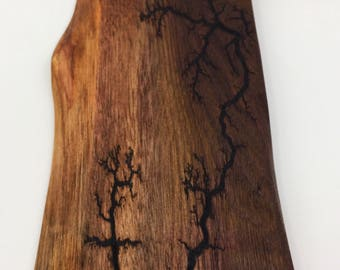 Lichtenberg Figure Live Edge Walnut Serving Board / Cheese Board