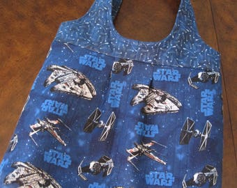 Star Wars quilted tote bag