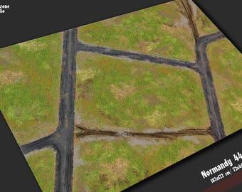 Battle mat: Normandy 44 - flames war world terrain for scale model historical wargames -  Warhammer, Flames of War, Age of Sigmar,