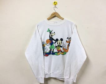 Rare!!! Vintage Mickey Mouse And Friend Sweatshirt Crewneck Pullover