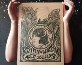 Brian Wilson-50th Anniversary of Pet Sounds psychedelic  Illustration gig poster Print