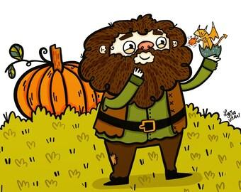 Hagrid Potter Fan Art Illustration