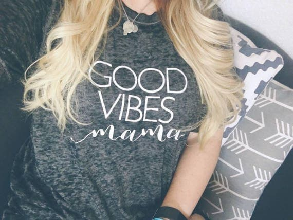 GOOD VIBES MAMA Acid Wash Tee, Good Vibes, Vibes, Mama Tee, Mom Tees, Good Vibes Tshirt, Good Vibes Only Tee, Good Vibes