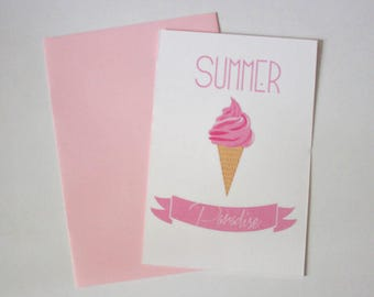 "Postcard ""summer"" paradise"""