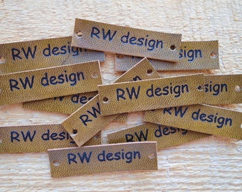 Set of 12 PCs, Leather Tags, Clothing Labels, Leather Labels,  Custom Labels, Sew in Labels, Custom Sew in Labels, Sew on Labels
