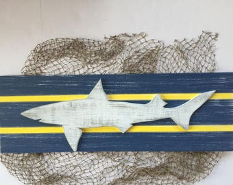 Shark Wood Wall Art Nautical Decor