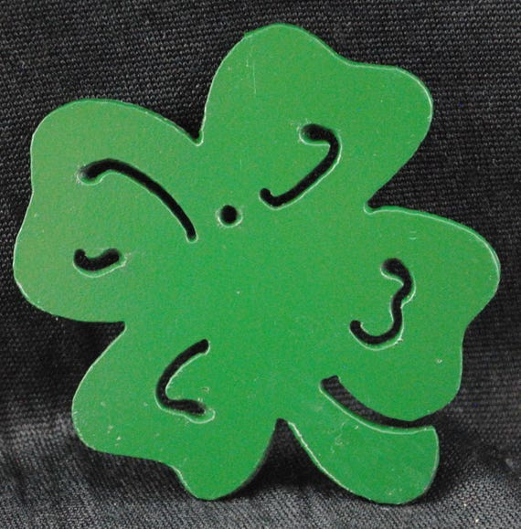Shamrock, Metal Shamrock, Green Shamrock St. Patrick's Day, Good Luck Shamrock, Four Leaf Clover, Small Shamrock, St. Patrick's Day Decor