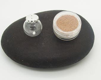 glass globe with his box of ochre sandblasted