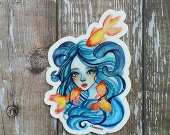 Goldfish Keeper 3 Inch Vinyl Sticker /Decal