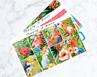 Tropical Mini Kit | Erin Condren Vertical Planner Stickers