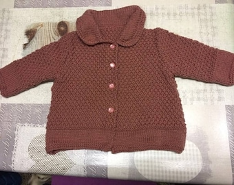 Small old vest pink child - size 12 months