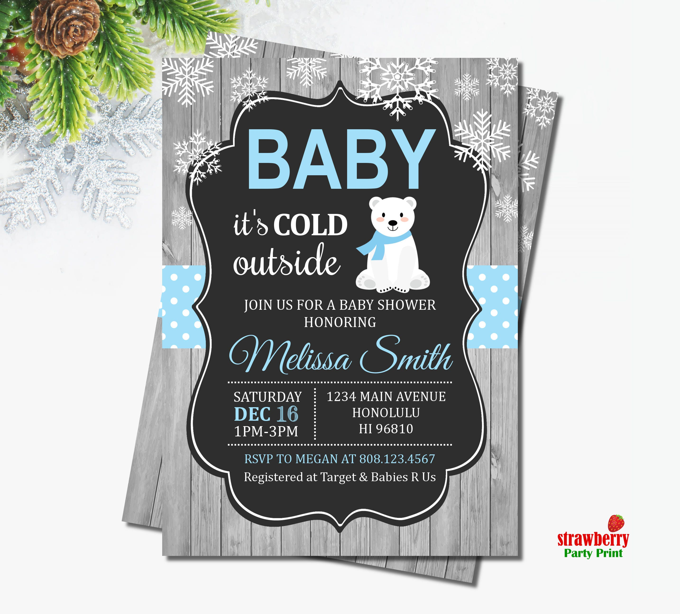 Baby Its Cold Outside Baby Shower Invitation. Winter Baby Shower ...