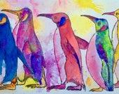 Penguins original framed ...