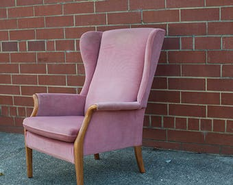 Mid Century Danish Wingback Chair