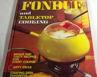 FONDUE COOKBOOK Vintage Better Homes & Gardens 1970s Retro Fondue Pot Cook Book