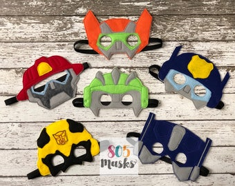 Rescue Bot Inspired masks, Rescue Bots, Rescue Bot, Transformer Birthday, Rescue Bot Mask, Transformer Mask, Party Favor, Kids Mask,Dress Up