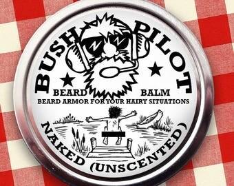 Naked (Unscented) Beard Balm for Sale - Bush Pilot Brand