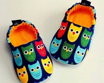 Baby Booties / Baby Shoes / Handmade Booties / Soft Sole Booties / Soft Sole Shoes / Owl Booties