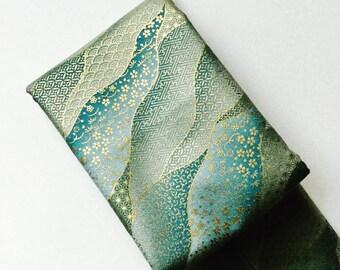Kimono Golden Blue Sakura Sword Bag