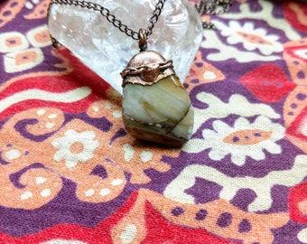 Picture Jasper and Copper Pendant