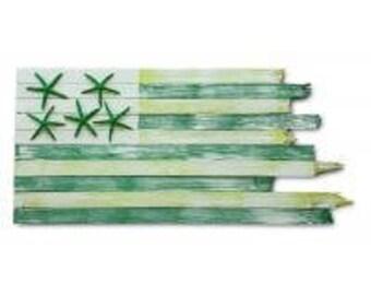 Handcrafted Coastal Flag - Mojito