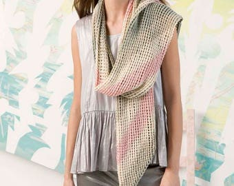 Summer scarf made of 100% cotton with beautiful color gradients