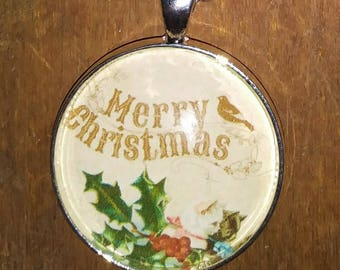 Merry Christmas Necklace - Pendant Necklace - Christmas Accessory